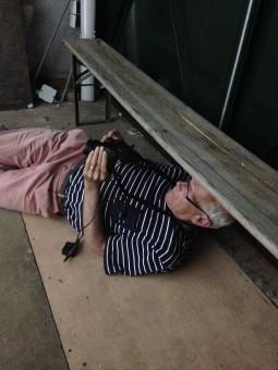 Marten Hendriks in het TRAFOHUISJE - foto Rob Groot Zevert